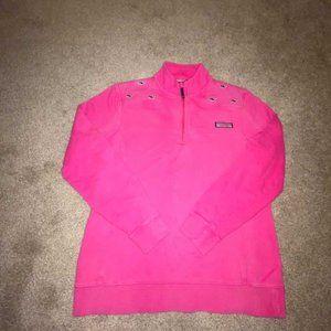 Vineyard Vines Pink Quarter Zip Sweatshirt